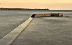 Sunset Spring Tide On Tramore's New Pier Wall