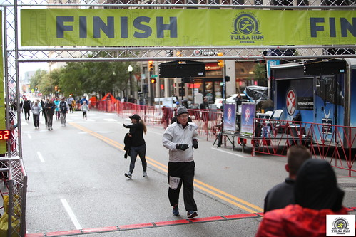 Tulsa Run Finish Line