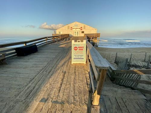 appleiphone11pro sunset kittyhawk kittyhawkpier 2019 shadows northcarolina outerbanks textures patterns beaches wideangle