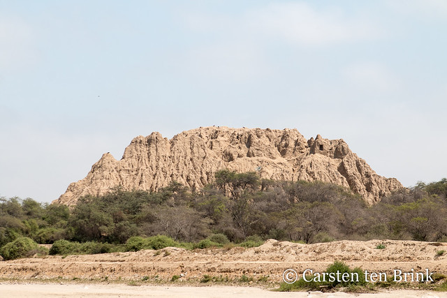Sican mudbrick pyramid - eroded by the centuries