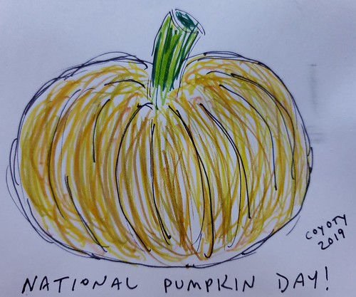 Inktober 26, 2019: National Pumpkin Day