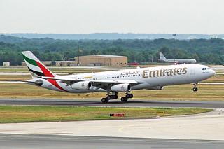 A6-ERM 1 Airbus A340-313X Emirates Airline (Dubai Summer Surprises 2005) FRA 29JUL05