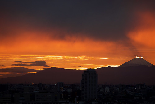 sunset mtfuji japan 富士山