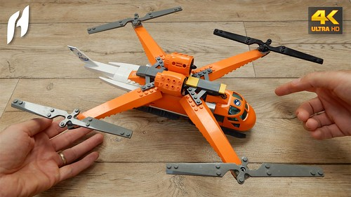 How to Build Lego Quadrotor Helicopter (MOC - 4K)