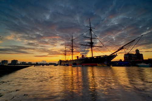 hmswarrior sunset september 2019 portsmouth sony ilce6300