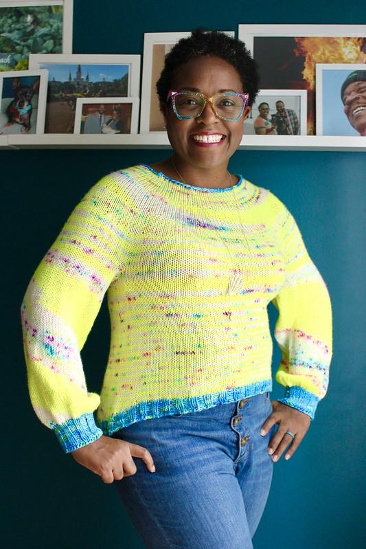Pinwheel pullover