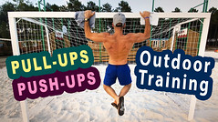 Ben Heine outdoor training Quick Outdoor Training: Pull-ups, Push-ups and Basketball (Ben Heine Youtube Video)- entrainement