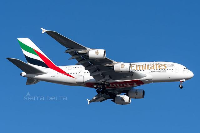 A6-EUT A380 EMIRATES YBBN