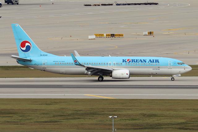 HL8240  -  Boeing 737-8BK (WL)  -  Korean Air  -  ICN/RKSI 6/10/19