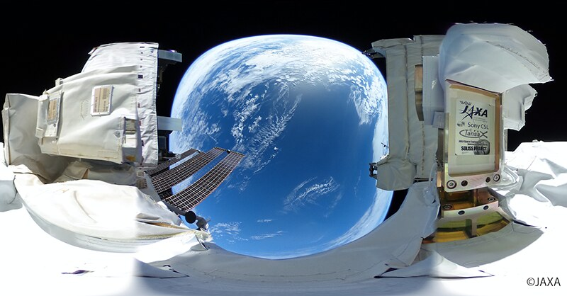 JAXA and Ricoh release 360-degree spherical pictures and videos captured in outer space