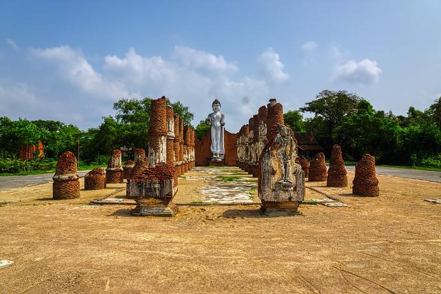 Dvaravati Wihan in Muang Boran (Ancient City) in Samut Phrakan, Thailand