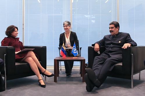 Presidente Maduro y Subsecretaria de Asuntos Públicos de la ONU se reúnen en Azerbaiyán