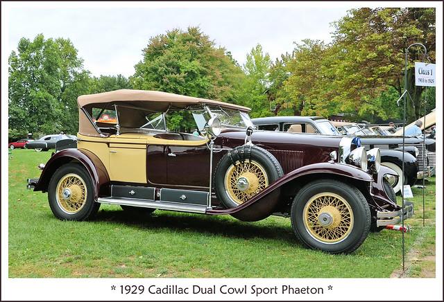 1929 Cadillac V-8 Dual Cowl Sport Phaeton