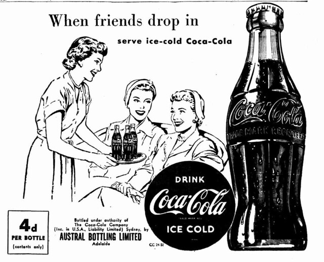 1951 advertisement for Coca-Cola - When friends drop in