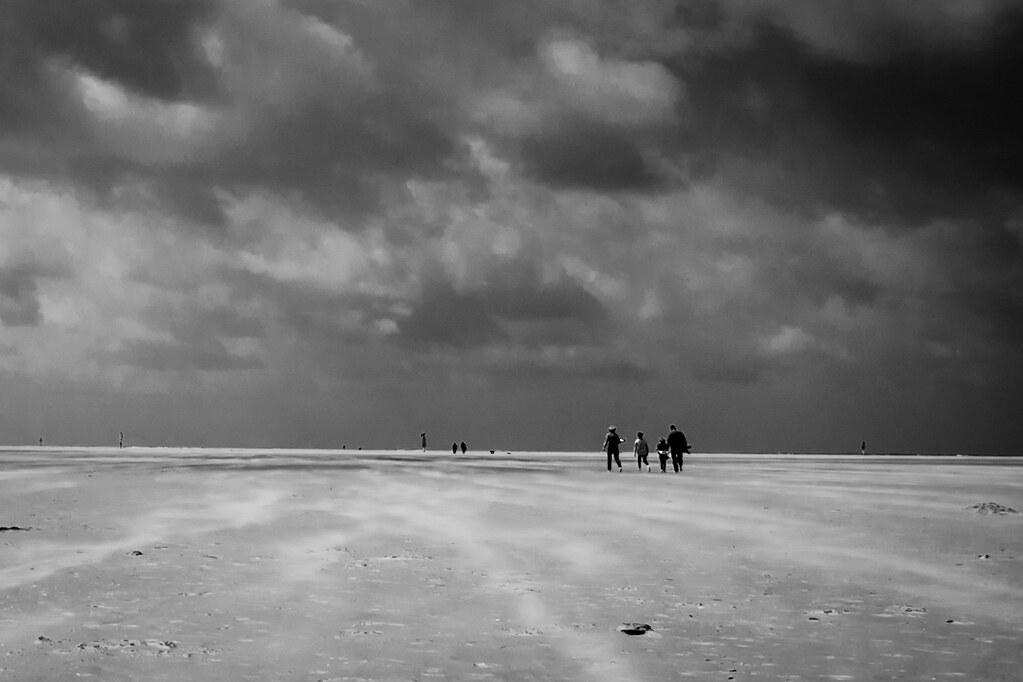 Beach walk after storm