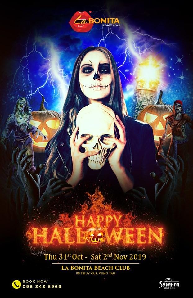 Lễ hội Halloween 2019 Vũng Tàu tại Labonita sẽ diễn ra liên tục trong 3 ngày.