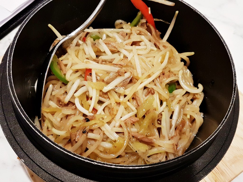 Wok-Fried Vermicelli Noodles With Shredded Duck In Hot Stone Pot