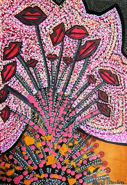 ציורי פרחים אמנות ישראלית מירית בן נון אמנית מודרנית עכשווית