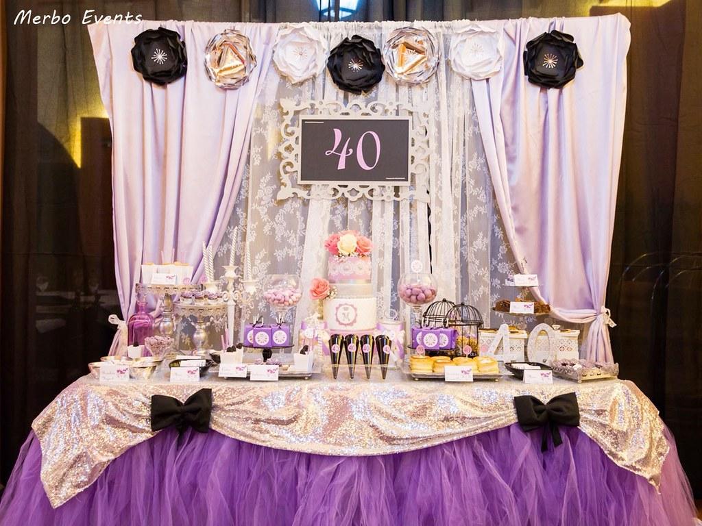 mesa dulce 40 cumpleaños