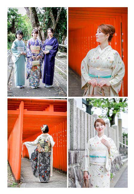 美しい着物風 女性の和装ロケーション撮影 若い女性 振袖