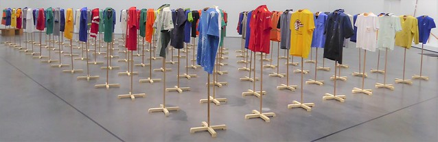Chicago, Museum of Contemporary Art, One on One Exhibit, T-Shirts  (Artist: Jonathas Andrade)