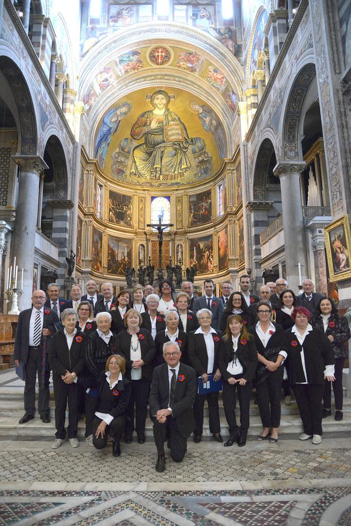 La Corale San Petronio e Santa Maria della Pace di Castel Bolognese ha cantato nella cattedrale di Pisa