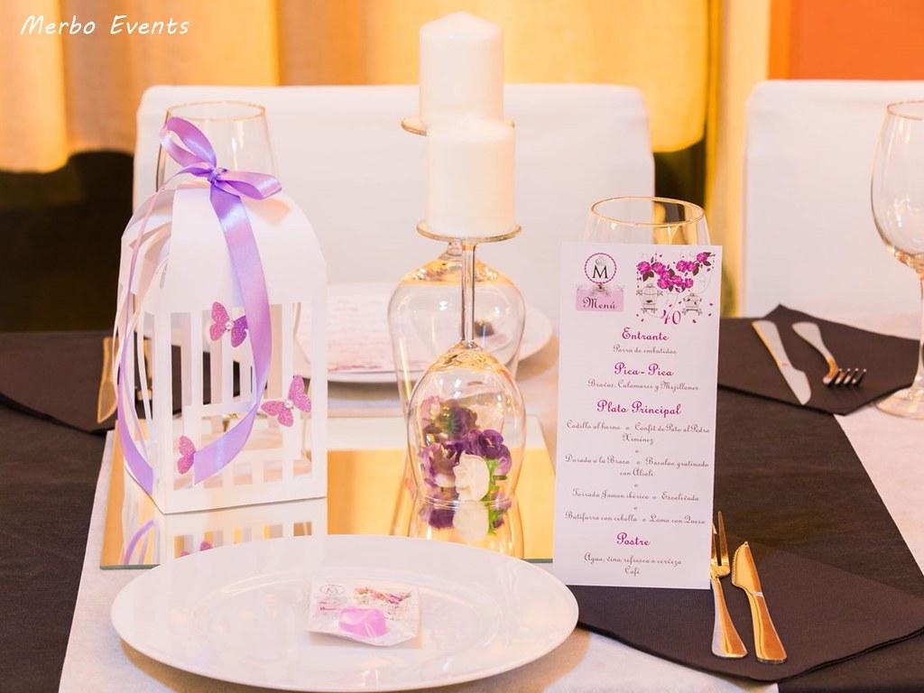 centros de mesa 40 cumpleaños MErbo Events