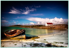 Boat at Crannag, Isle of Barra