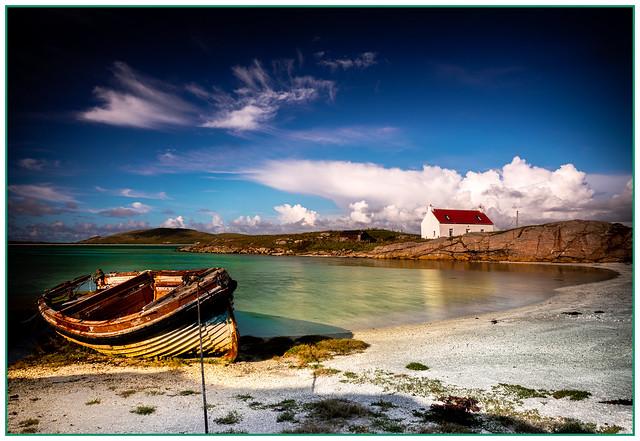 Boat at Crannag, Isle of Barra