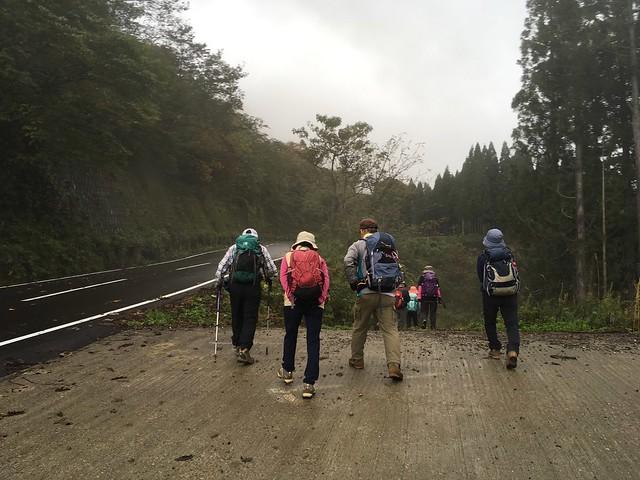 道宗道を五箇山側から高落場山へ!