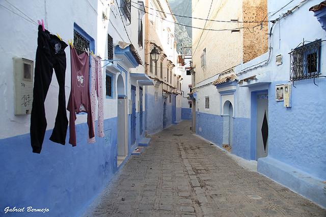 Una calle de Chaouen