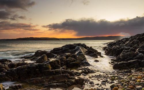 scotland highlands autumn sea