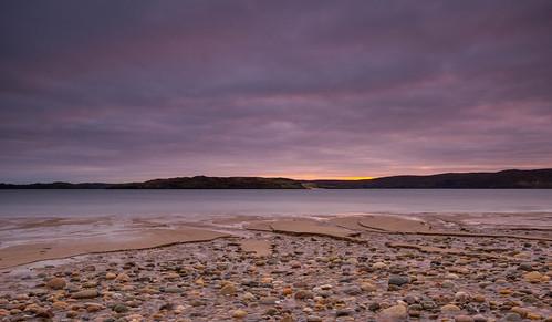 scotland highlands beach sunrise autumn