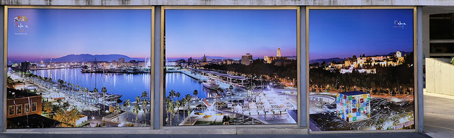 The International seaport of Málaga