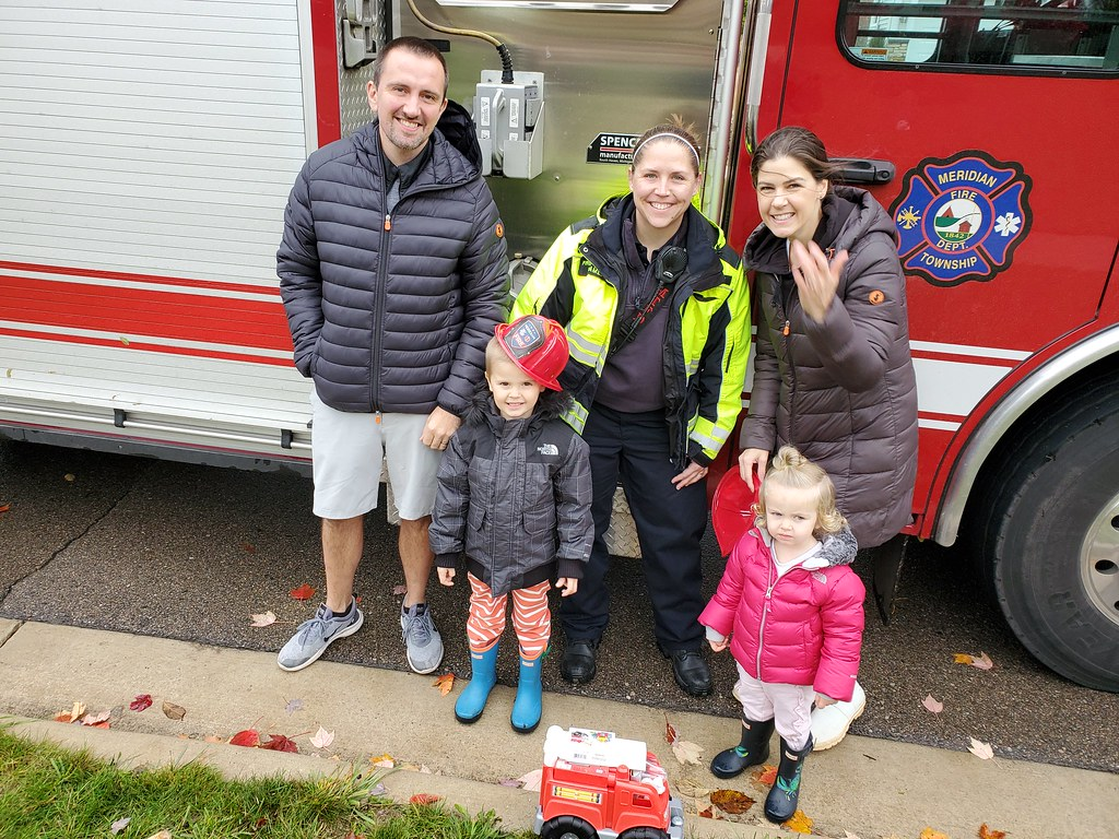 Meridian Township Firefighters Surprise Kids and Families