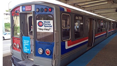 heritage fleet, CTA, for Chicago Cubs World Series
