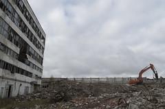 Bij. Daugavpils ķīmiskās šķiedras rūpnīcas nojaukšana, 06.10.2019.