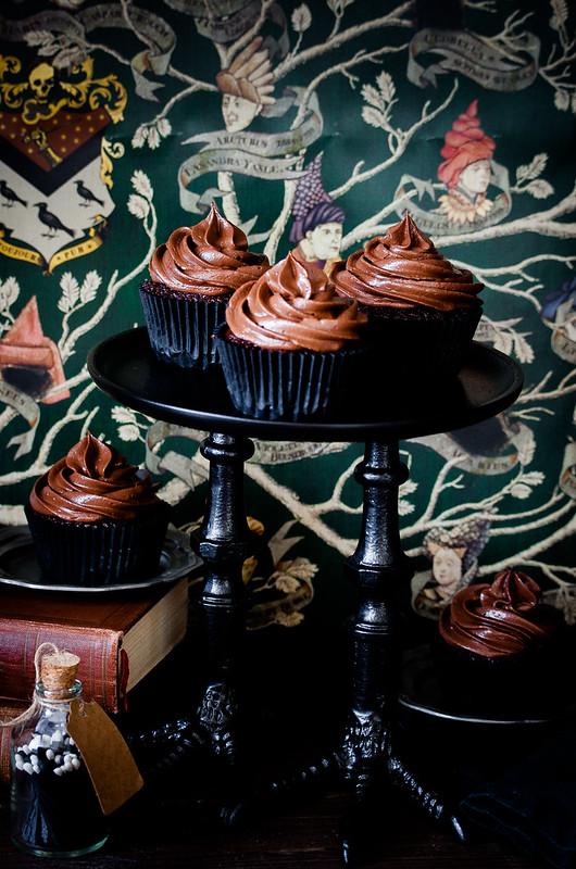 Happy Halloween: Schokoladen-Espresso Cupcakes