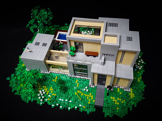 Artsand House MOC from above.