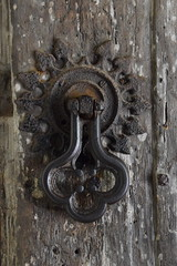 19th Century door handle, 15th Century plate