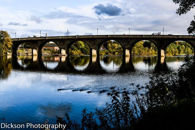 The bridge over the River Tyne at Hexham, Northumberland