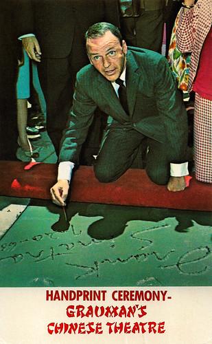 Frank Sinatra, Handprint Ceremony Grauman's Chinese Theatre