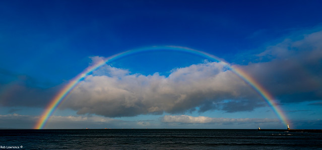 Nice Half Rainbow off Aberdeen Beach Today, There's a Second but very Fain...