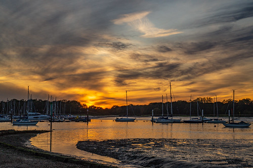 sunset sun dusk river hamble riverhamble warsash hampshire sky cloud sony alpha a58