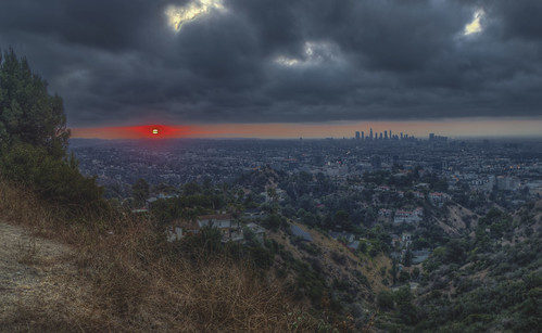sunrise runyoncanyon hollywood hollywoodhills clouds california southerncalifornia