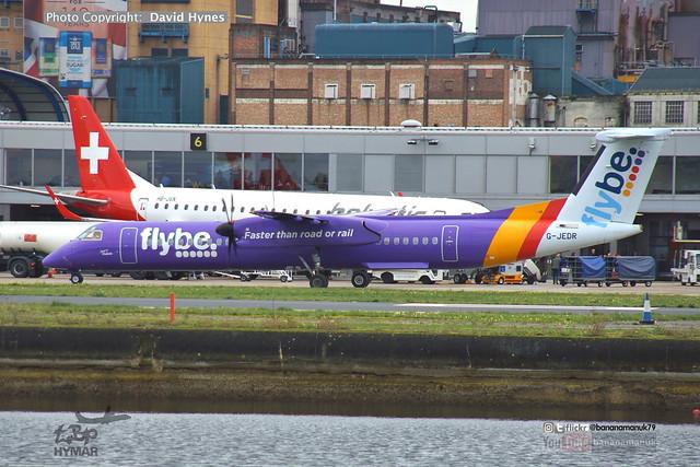 Flybe G-JEDR Dehavilland Dash 8 at London City Airport October 2019 City of Dublin