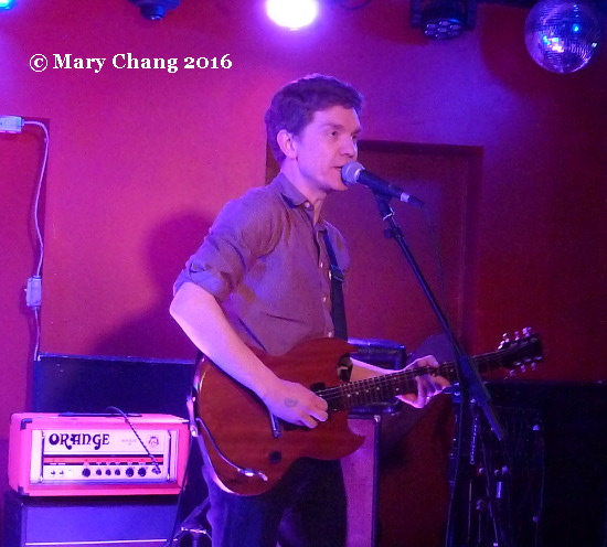 Peter Brewis of Field Music at DC9, Washington DC, 24 March 2016