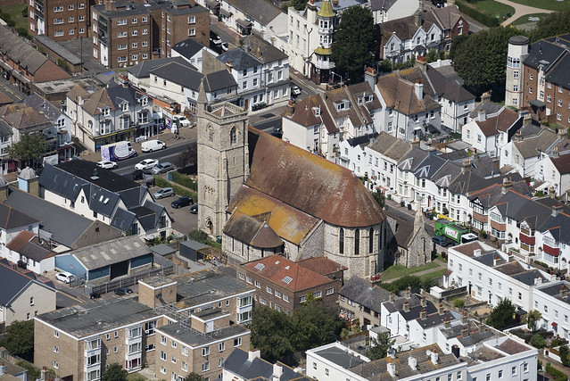 Christ Church in Eastbourne - aerial image