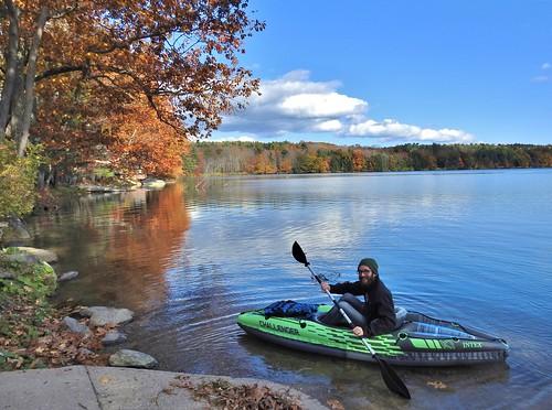 walkingnewengland janelazarz massachusetts fallinnewengland nikonp900 nikon massachusettsautumn autumn newenglandcountrysidewestern kayak green lake lakemahkeenac lenox