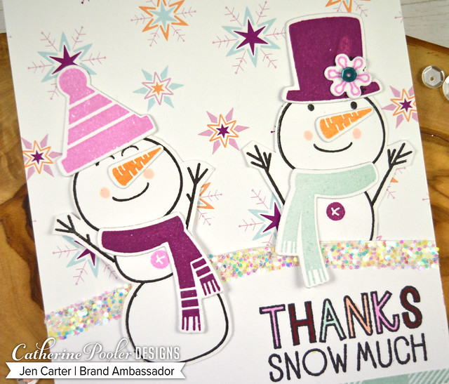 Build a Snowman Chillin Snowflakes Feeling Chilly Paper Closeup 2 JDC